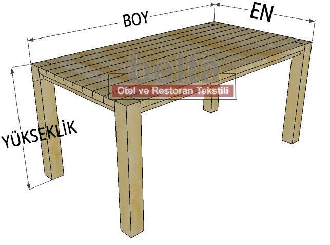 dikdörtgen masa ölçü örneği