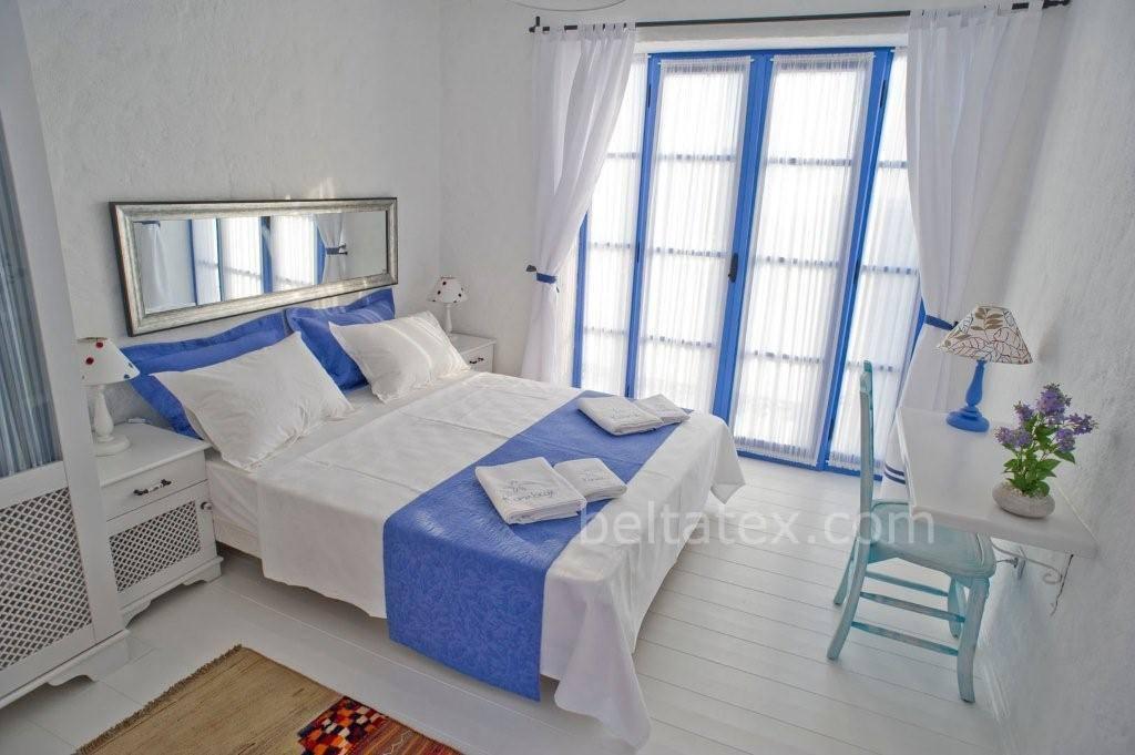Pamuklu otel yatak örtüsü